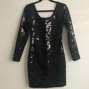 Dynamite black sequins bodycon dress